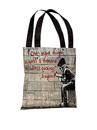 Banksy One Original Thought Tote Bag
