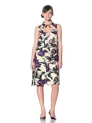 MARNI Women's Sleeveless Floral-Print Dress (Purple Yellow)