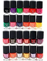 Foolzy Pack of 24 Nail Paint Polish