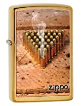 Zippo Brushed Brass Lighter, 28674
