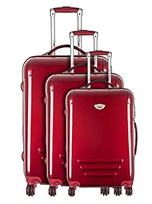 American Revival by Platinium Set 3 Trolleyss 4 Ruedas Colors (Burdeos)