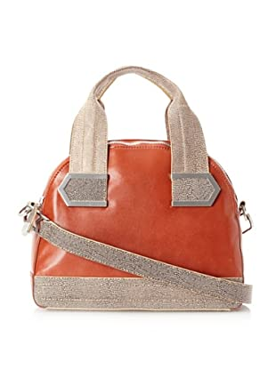 Allibelle Women's Stripes Satchel (Copper/Gobi)