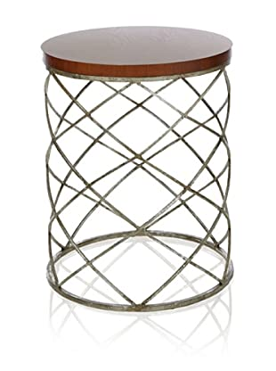 Safavieh Phoebe Accent Table (Wood Top/Silver)