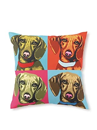 Woofhol Dachshund Pillow