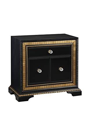 Bassett Mirror Company Villa Granada Small Chest, Black/Gold/Crystal