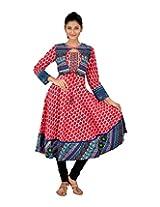 EthniCity Women's Cotton Kurti (DD-218A_Pink_XL)