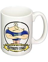 3dRose mug_103533_2 Funny Worlds Greatest Security Guard Occupation Job Cartoon Ceramic Mug, 15-Ounce