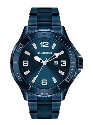 K&BROS 9564-5 / Reloj de Caballero  con brazalete metálico Azul