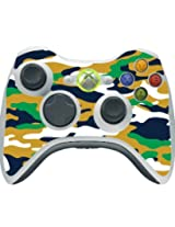 Blue Gold Green Camo Camouflage Xbox 360 Wireless Controller Vinyl Decal Sticker Skin By Moonlight Printing