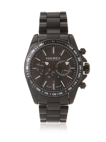 Haurex Italy Men's N0366UNN Aston Black Multi-Function Watch