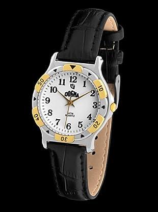 Dogma L1005 - Reloj de Caballero movimiento de quarzo con correa de piel negro