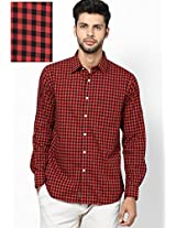 Black Checks Sport Fit Casual Shirt