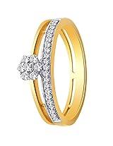 Nakshatra 18k Yellow Gold and Diamond Ring