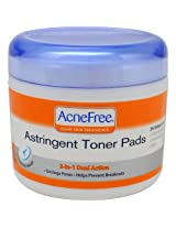Acnefree Acne Astringent Toner Pads, 60 Count