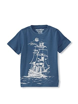 Munster Kid's Mickey Pirate Jersey Tee (Dusty Blue)