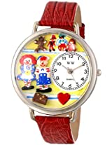 Whimsical Watches Unisex U0220006 Raggedy Ann and Andy Navy Blue Leather Watch