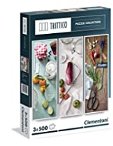 Clementoni Flavors of the Mediterranean Puzzle (500-Piece, Pack of 3)