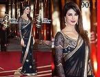 High5Store Priyanka Chopra Net Saree - Blue