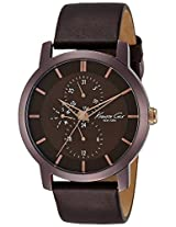 Kenneth Cole Dress Sport Analog Brown Dial Mens Watch-IKC8107