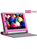 Best Deals - Premium High Quality Leather Flip Cover Case for Lenovo Yoga 2 Tablet 8 inch 830F 830L - Hot Pink