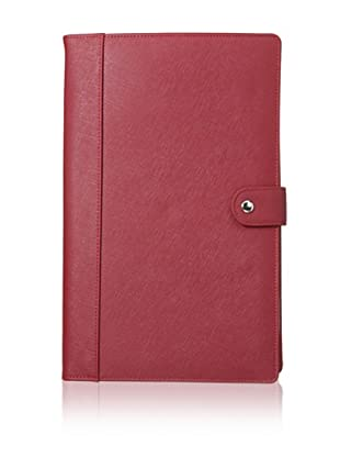 Morelle & Co. Naomi Saffiano Leather Jewelry Notebook, Red
