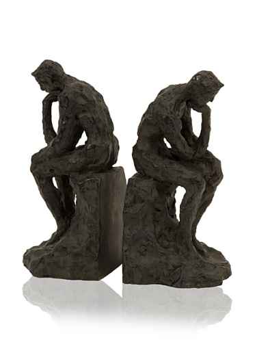 IMAX Set of 2 Thinking Man Bookends