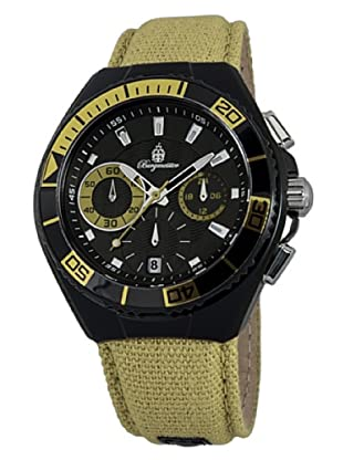 Burgmeister Herren-Armbanduhr XL Marseille Chronograph Quarz Textil BM609-629A