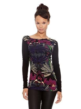 Desigual Camiseta Magnolia (Negro Estampado)