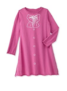 Teres Kids Girl's Bow and Buttons A-Line Dress (Fuchsia)