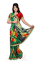 Vibes Women's Weightless Saree, With Fency Border (S20-1260-A_Multi-Coloured)