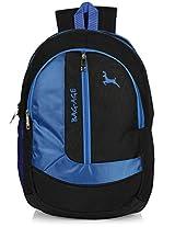 Bag-Age Zuma 30 Large School Backpack (Black Blue)