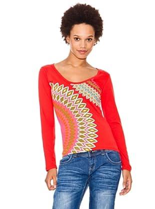 Desigual Camiseta Redhorse (carmin)