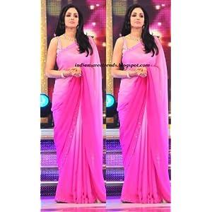 bollywood replica sridevi pink saree sari