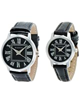 Giordano Analog Black Dial Pair Watch - P6888