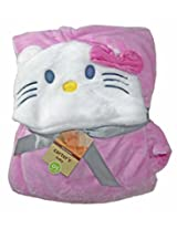 CARTER'S HOODED BLANKET/WRAP from BabySid - Hello Kitty- 77cm X 102 cm.