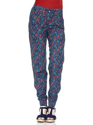 Springfield Pantalón Suelto (Azul / Rojo)