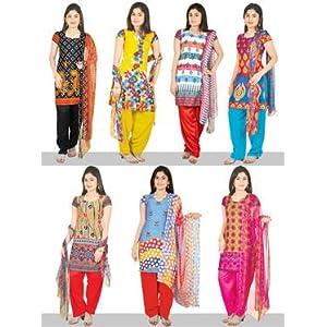 Manasvi Set of 7 Printed Dress Material