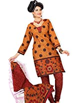atisundar superb Orange Traditional Cotton Printed Salwar Suit- 4347_39_5058