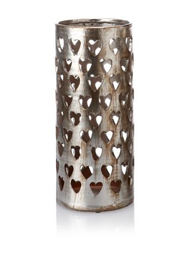 Mercana Décor Flinta II Candle Holder, Distressed Metallic