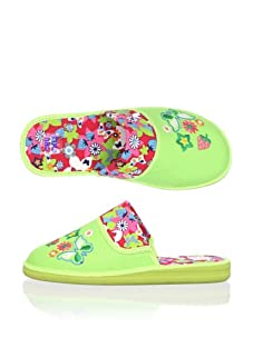 Chuches Kid's Butterfly Slide Slipper (Pistachio)