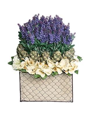 Lavender Artichoke Basket (Purple/Green/Creme)