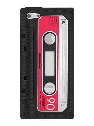Blautel iPhone 5 Funda Silicolor Retro Cassete Negro