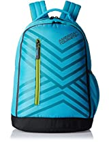 American Tourister Ebony Turquoise Casual Backpack (Ebony Backpack 05_8901836132786)