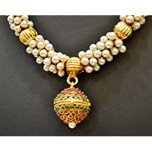 D461 Bollywood South Indian Style Imitation Jewellery necklace earrings set