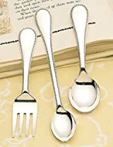 Children Classic Bead 3 Piece Baby Set by Reed & Barton