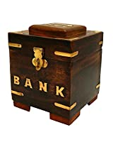 ITOS365 Handicrafted Wooden Money Bank Kids Piggy Coin Box Gifts