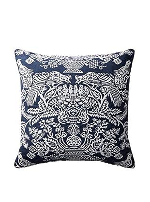 Belle Époque Wilmington Collection Decorative Pillow, Blue/White