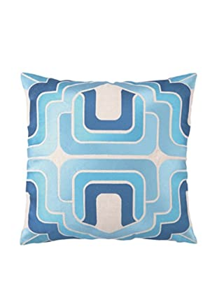 Trina Turk Ogee Embroidered Pillow (Blue)