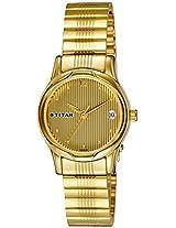 Titan Karishma Analog Champagne Dial Women's Watch - NE2490YM04