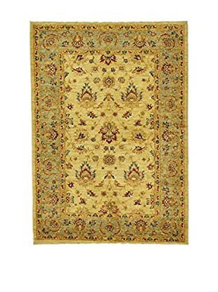 L'Eden del Tappeto Teppich Royal Farahan gelb 177t x t120 cm